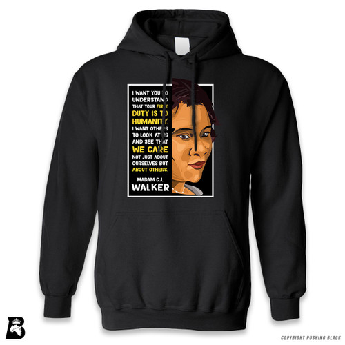 'The Legacy Collection - Madame C. J. Walker - Humanity' Premium Unisex Hoodie with Pocket