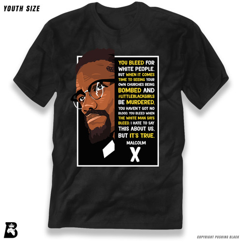 'The Legacy Collection - Malcolm X - No Blood' Premium Youth T-Shirt