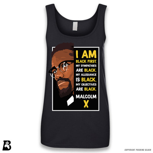 'The Legacy Collection - Malcolm X - Black First' Sleeveless Ladies Tank Top