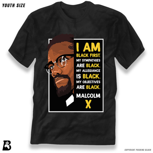 'The Legacy Collection - Malcolm X - Black First' Premium Youth T-Shirt