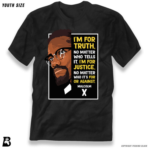 'The Legacy Collection - Malcolm X - Truth and Justice' Premium Youth T-Shirt