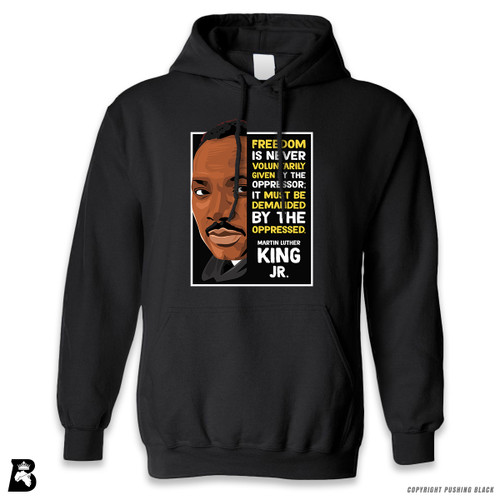 'The Legacy Collection - MLK Jr. - Demanded' Premium Unisex Hoodie with Pocket