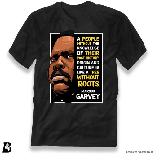 'The Legacy Collection - Marcus Garvey - Tree Without Roots' Premium Unisex T-Shirt