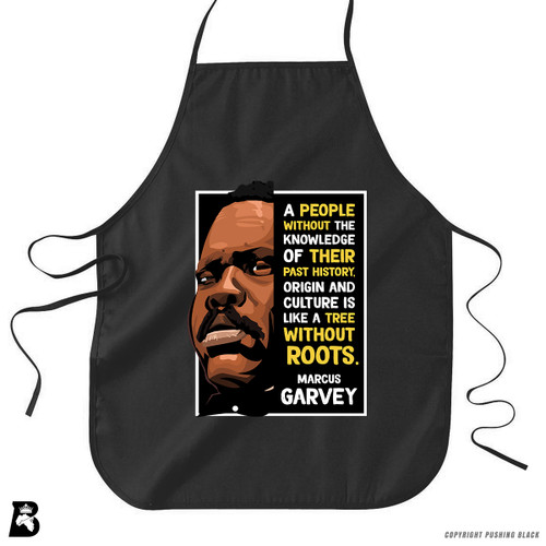 'The Legacy Collection - Marcus Garvey - Tree Without Roots' Premium Canvas Kitchen Apron