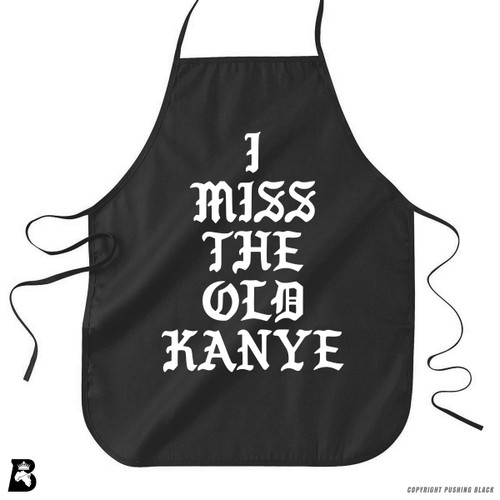 'I Miss the Old Kanye' Premium Canvas Kitchen Apron