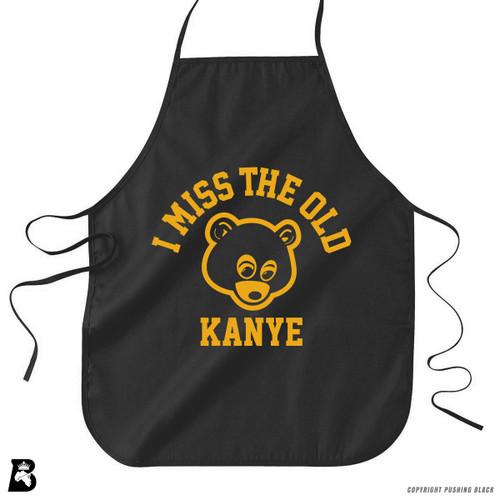 'I Miss The  Old Kanye - Bear' Premium Canvas Kitchen Apron