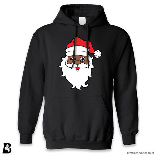 'Black Santa Face' Premium Unisex Hoodie with Pocket