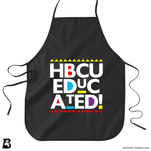 'HBCU Educated - Zany Text' Premium Canvas Kitchen Apron