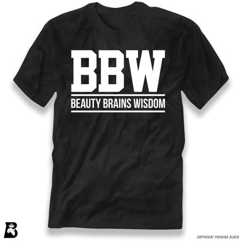 'Beauty Brains Wisdom' Premium Unisex T-Shirt