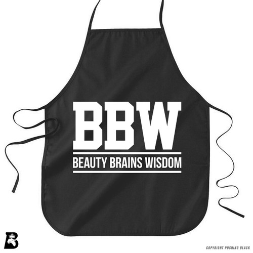 'Beauty Brains Wisdom' Premium Canvas Kitchen Apron
