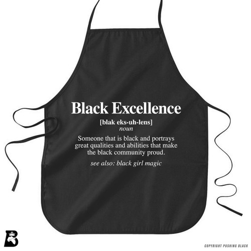 'Black Excellence Defined' Premium Canvas Kitchen Apron