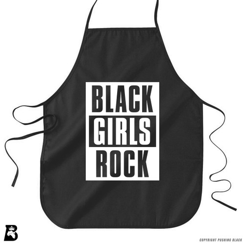 'Black Girls Rock - Block Style' Premium Canvas Kitchen Apron