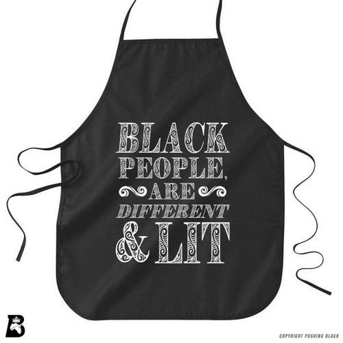 'Black People Are Different and Lit' Premium Canvas Kitchen Apron