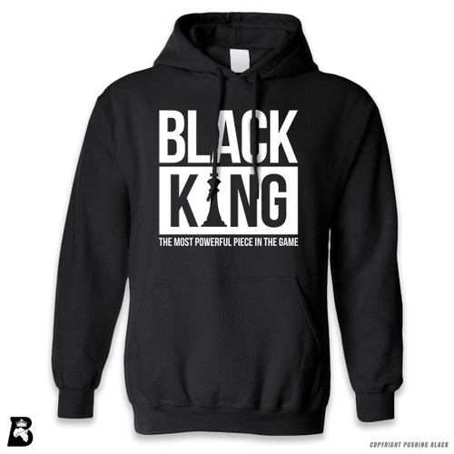 'Black King - The Most Powerful Piece In The Game' Premium Unisex Hoodie with Pocket
