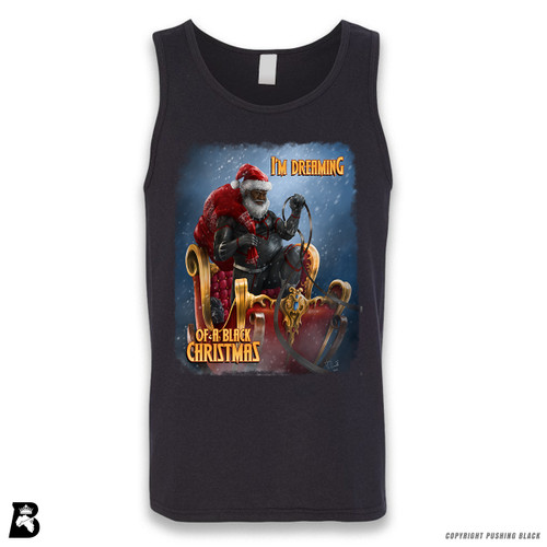 "'Black Santa - ""Christmas Forever""' Sleeveless Unisex Tank Top"