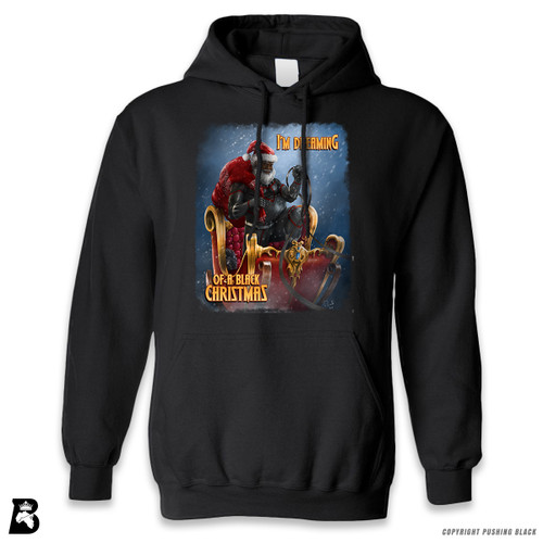 "'Black Santa - ""Christmas Forever""' Premium Unisex Hoodie with Pocket"