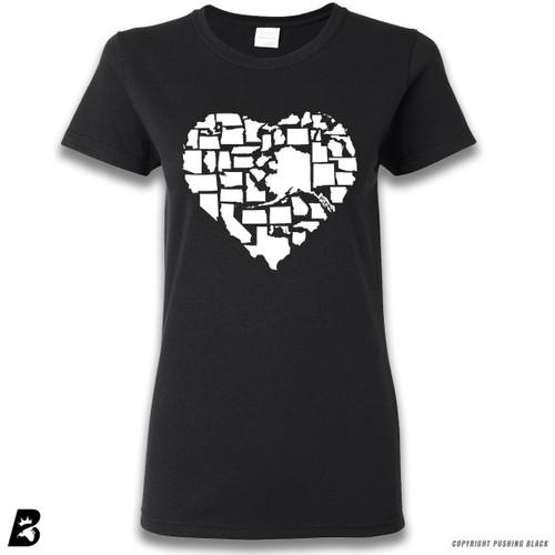 50 State Love USA Premium Ladies T-Shirt