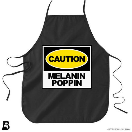 'Caution - Melanin Poppin' Premium Canvas Kitchen Apron