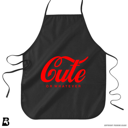 'Cute - Or Whatever' Premium Canvas Kitchen Apron