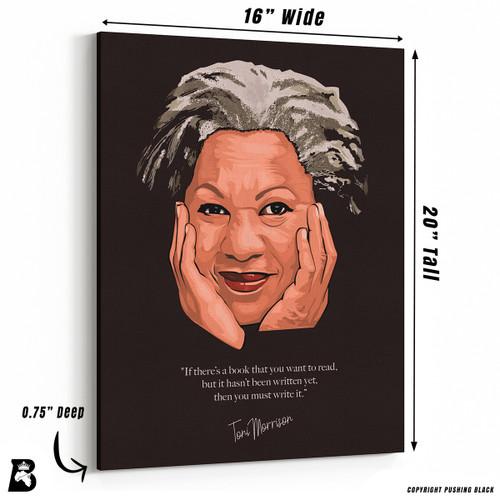 Toni Morrison - 'You Must Write It' Premium Wall Canvas