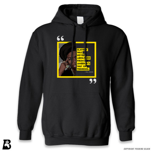"'The Legacy Collection - Nina Simone ""Slavery Was Never Abolished From America's Way of Thinking""' Premium Unisex Hoodie with Pocket"