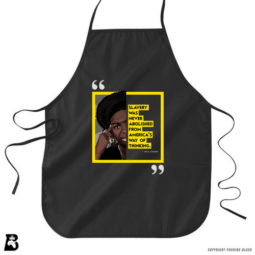 "'The Legacy Collection - Nina Simone ""Slavery Was Never Abolished From America's Way of Thinking""' Premium Canvas Kitchen Apron"