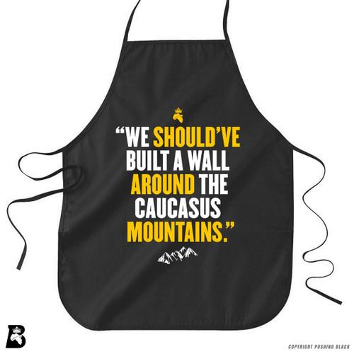 'Wall Around the Caucasus Mountain' Premium Canvas Kitchen Apron