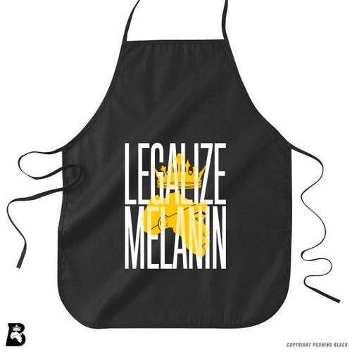 'Legalize Melanin' Premium Canvas Kitchen Apron