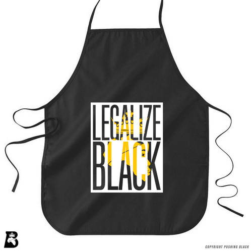 'Legalize Black ' Premium Canvas Kitchen Apron