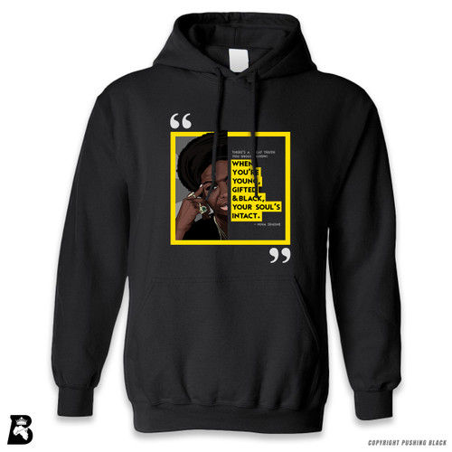 "'The Legacy Collection - Nina Simone ""Young Gifted and Black""' Premium Unisex Hoodie with Pocket"