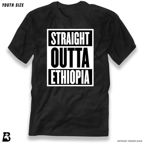 'Straight Outta Ethiopia' Premium Youth T-Shirt