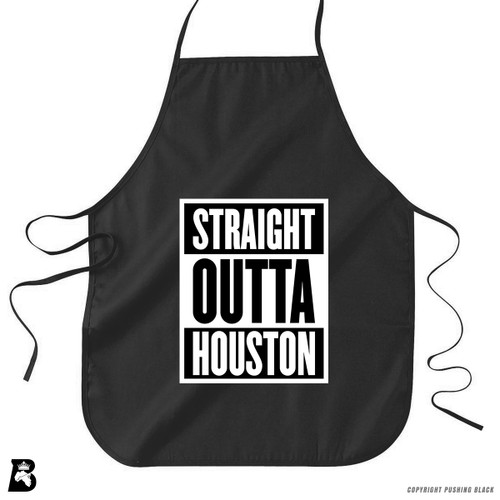 'Straight Outta Houston' Premium Canvas Kitchen Apron