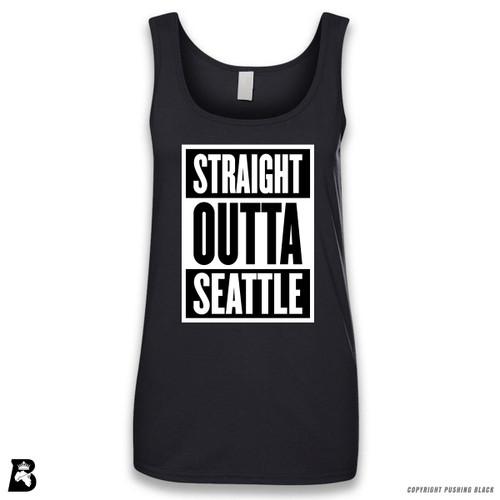 'Straight Outta Seattle' Sleeveless Ladies Tank Top
