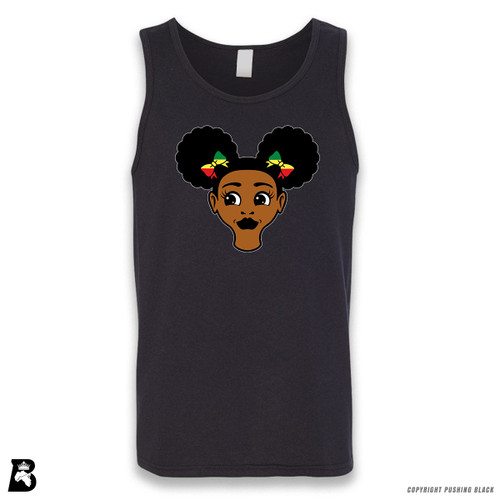 'Afro Puffs' Sleeveless Unisex Tank Top