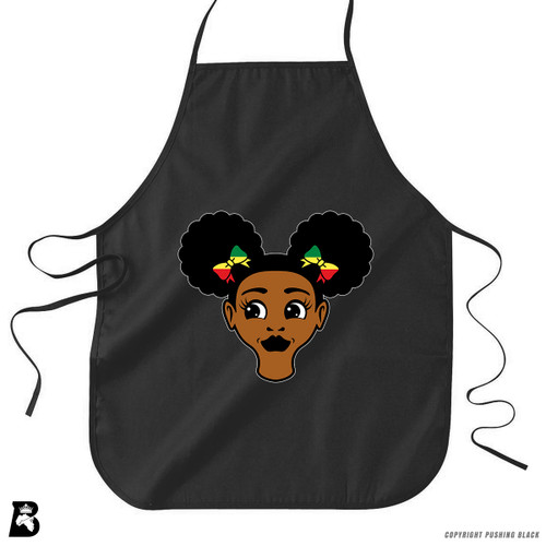 'Afro Puffs' Premium Canvas Kitchen Apron