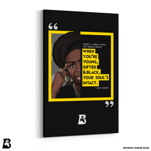 "'The Legacy Collection - Nina Simone ""Young Gifted and Black""' Premium Wall Canvas"