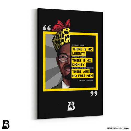 "'The Legacy Collection - Patrice Lumumba ""No Liberty""' Premium Wall Canvas"