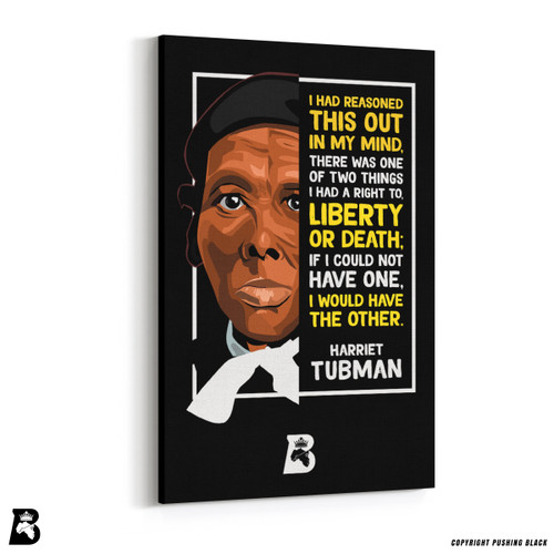 "'The Legacy Collection - Harriet Tubman ""Liberty or Death""' Premium Wall Canvas"