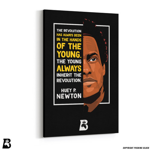 "'The Legacy Collection - Huey P. Newton ""The Young Inherit the Revolution""' Premium Wall Canvas"