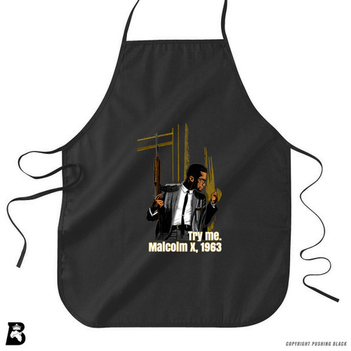 'Malcolm Shabazz - 'Try Me' - Full Variations' Premium Canvas Kitchen Apron