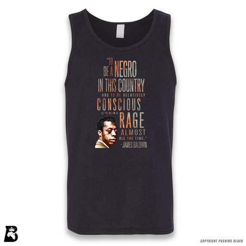 'James Baldwin 'Rage Almost All The Time' - Full Variations' Sleeveless Unisex Tank Top