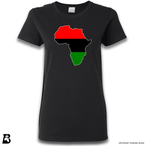 'Africa Map - Pan African Colors' Premium Unisex T-Shirt