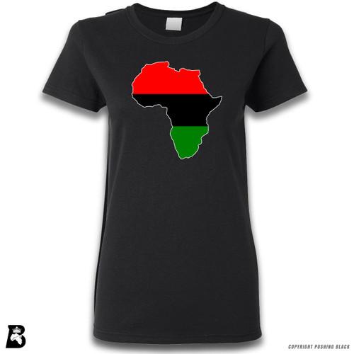 'Africa Map - Pan African Colors' Premium Unisex T-Shirt