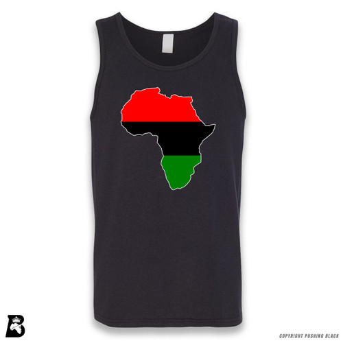 'Africa Map - Pan African Colors' Sleeveless Unisex Tank Top