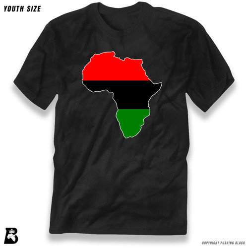 'Africa Map - Pan African Colors' Premium Youth T-Shirt