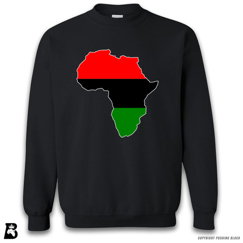 'Africa Map - Pan African Colors' Premium Unisex Sweatshirt