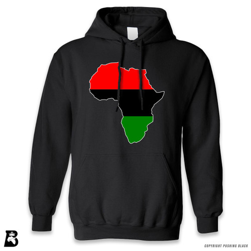 'Africa Map - Pan African Colors' Premium Unisex Hoodie with Pocket