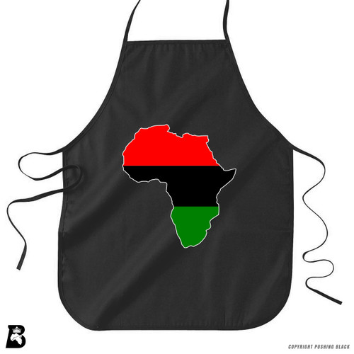 'Africa Map - Pan African Colors' Premium Canvas Kitchen Apron