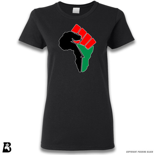 'African Power Fist - Pan African Colors' Premium Unisex T-Shirt