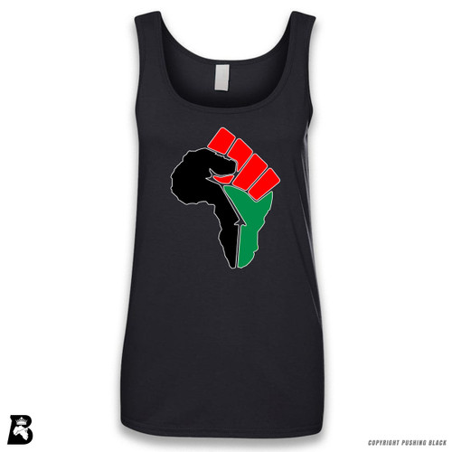 'African Power Fist - Pan African Colors' Sleeveless Ladies Tank Top